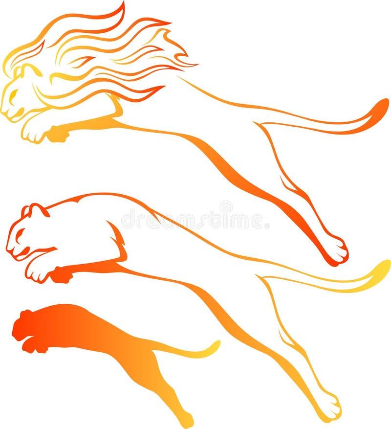 Vecteur de lions illustration stock