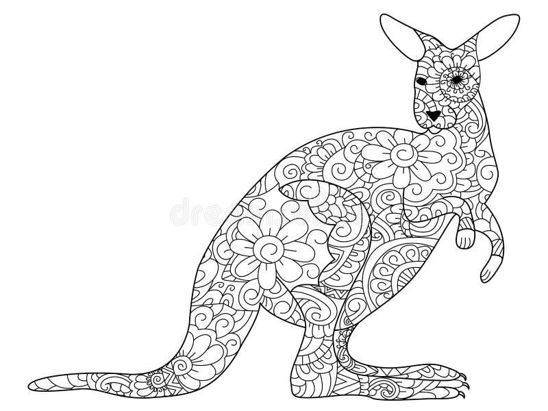 Vecteur de livre de coloriage de kangourou pour des - Kangourou coloriage ...
