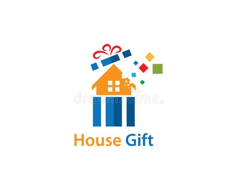Vecteur de logo de cadeau de Chambre illustration libre de droits