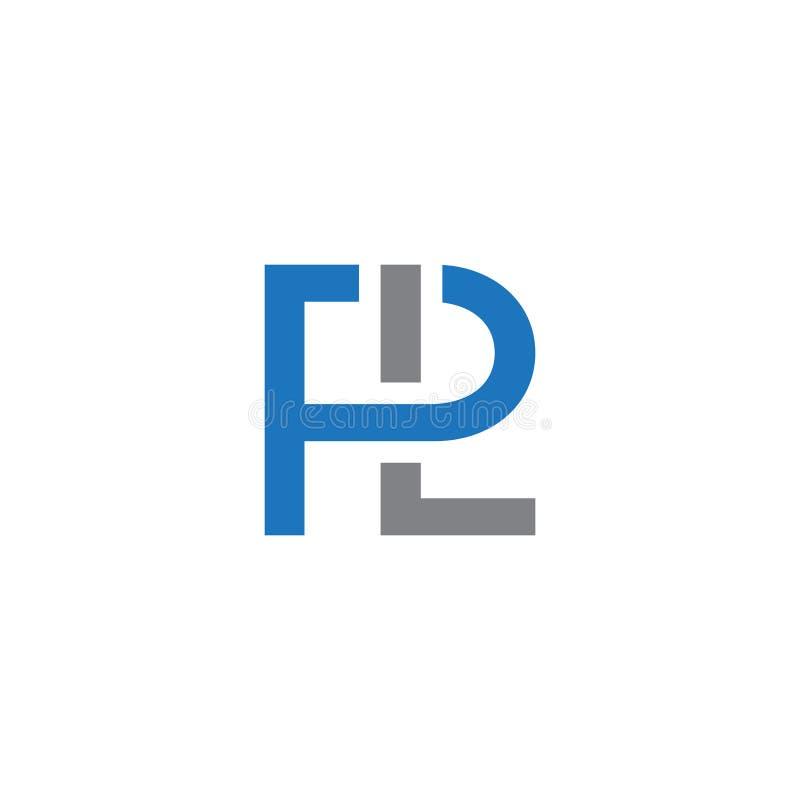 Vecteur de logo de coin de cercle de PL de lettre initiale illustration stock