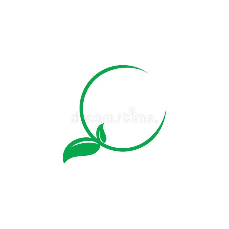 Vecteur de logo de décor de feuille d'objet de cercle photographie stock libre de droits