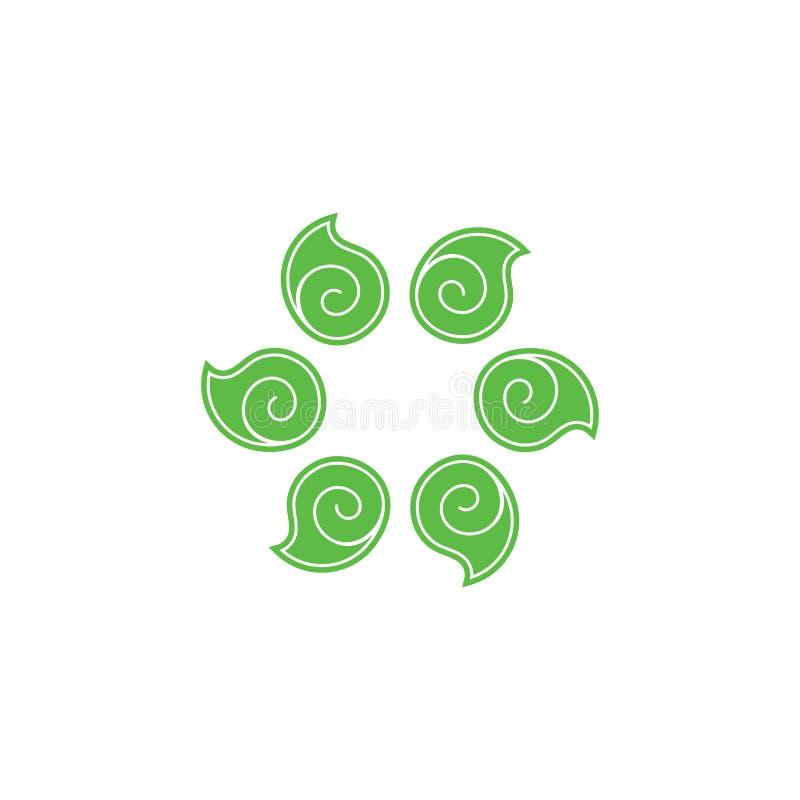 Vecteur de logo de décoration de cercle de Shell illustration stock