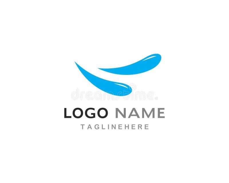 Vecteur de logo d'éclaboussure de l'eau illustration de vecteur