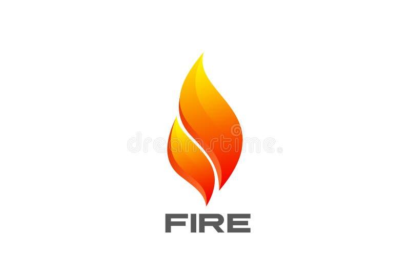 Vecteur de logo d'abrégé sur flamme du feu Camp flamboyant de brûlure illustration de vecteur