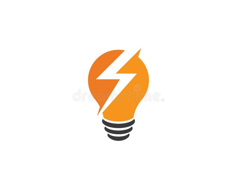 vecteur de logo d'ampoule illustration libre de droits