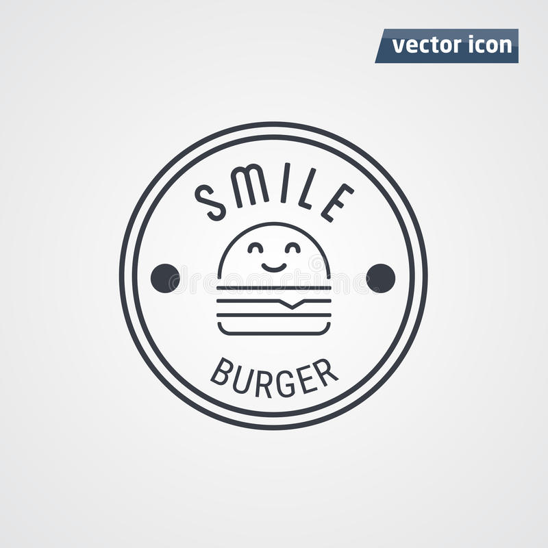 Vecteur de logo d'hamburger illustration stock