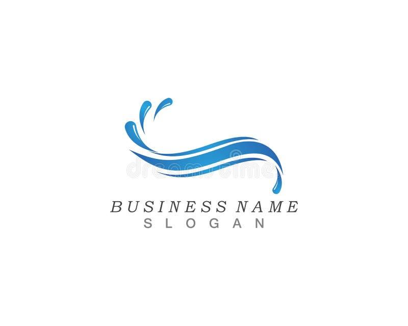 Vecteur de logo d'icône d'éclaboussure de vague d'eau illustration de vecteur
