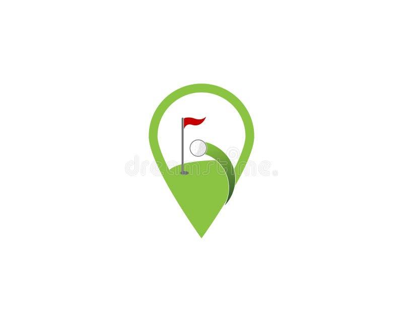 Vecteur de logo d'ic?ne de champ de golf illustration libre de droits
