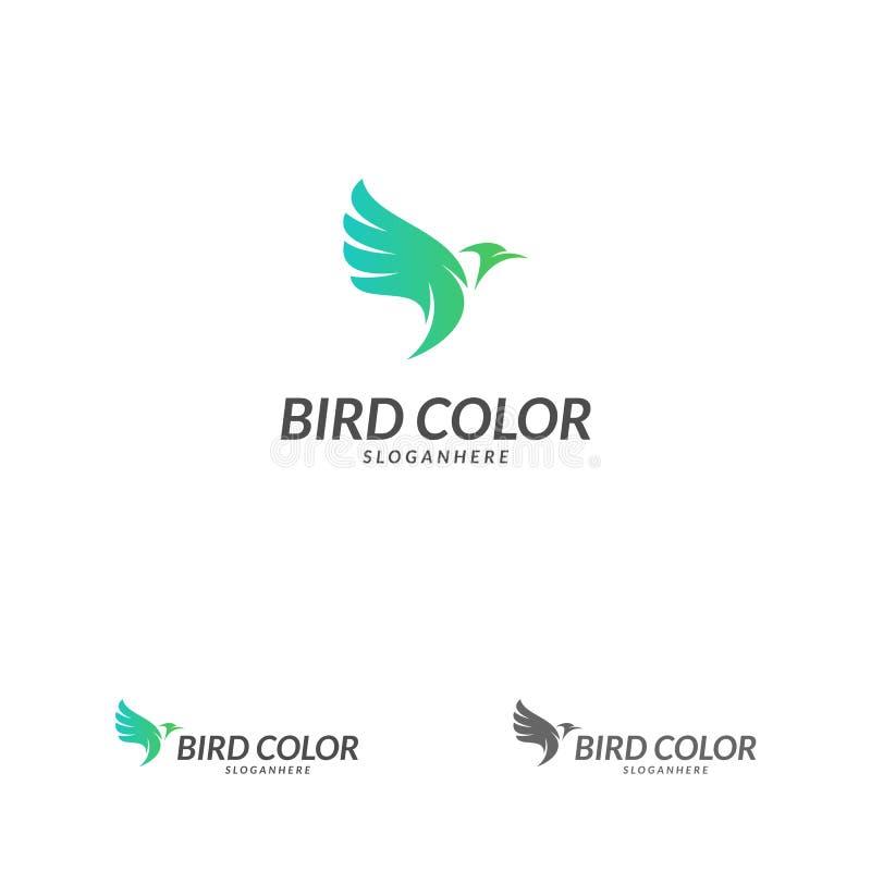 Vecteur de logo d'oiseau Calibre de vecteur de conception de logo d'oiseau de vol Icône de concept de Logotype de pigeon de colom illustration de vecteur
