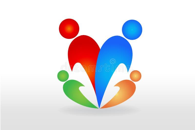 Vecteur de logo de famille illustration de vecteur