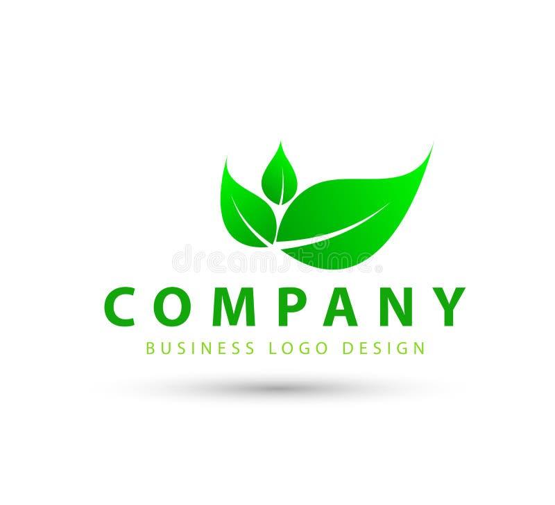 Vecteur de logo de feuille illustration de vecteur