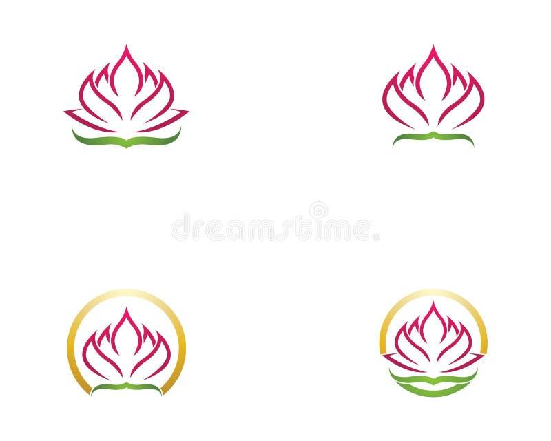 Vecteur de logo de fleur de Lotus illustration de vecteur