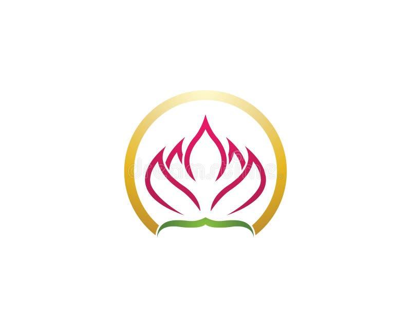 Vecteur de logo de fleur de Lotus illustration libre de droits
