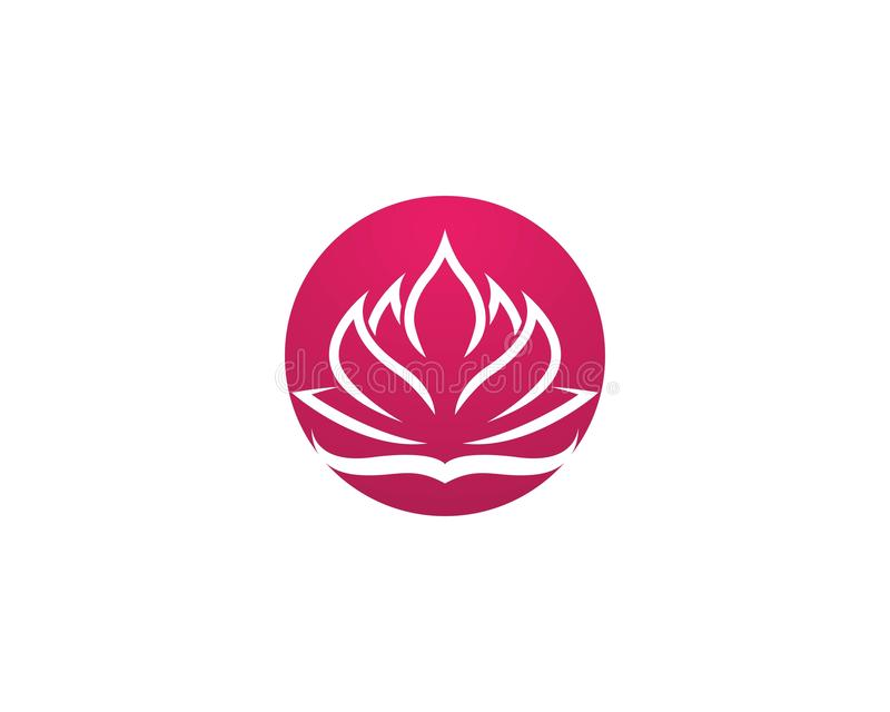 Vecteur de logo de fleur de Lotus illustration stock