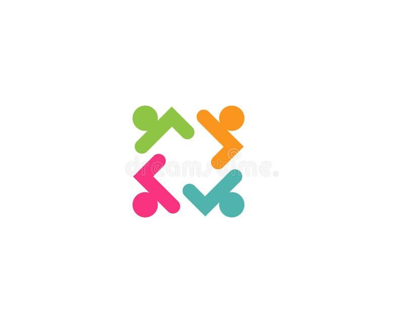 Vecteur de logo de groupe de personnes de la Communauté illustration de vecteur