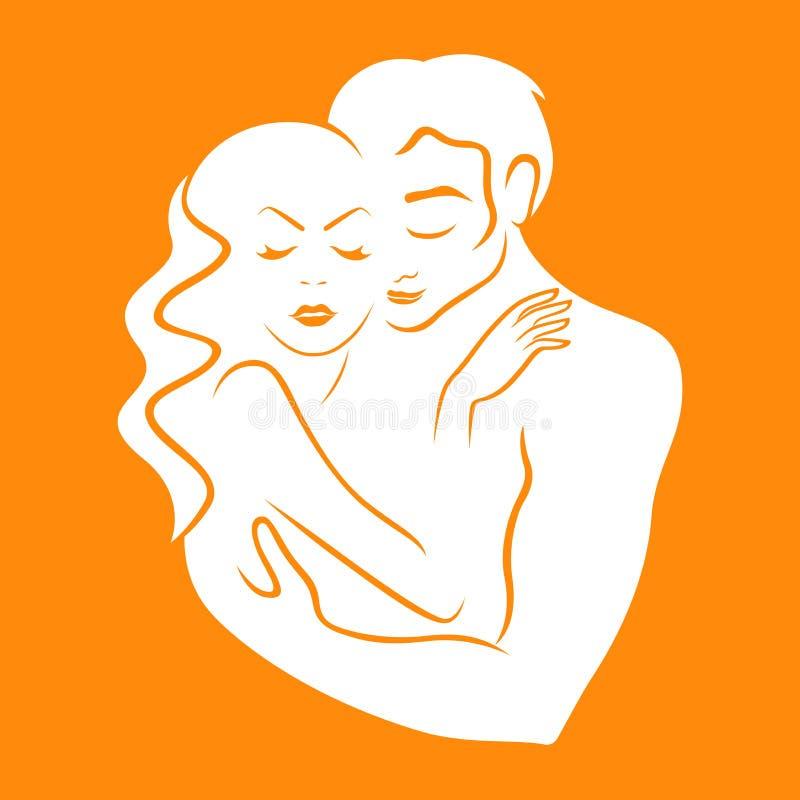 Vecteur de logo de l'amour doux illustration libre de droits
