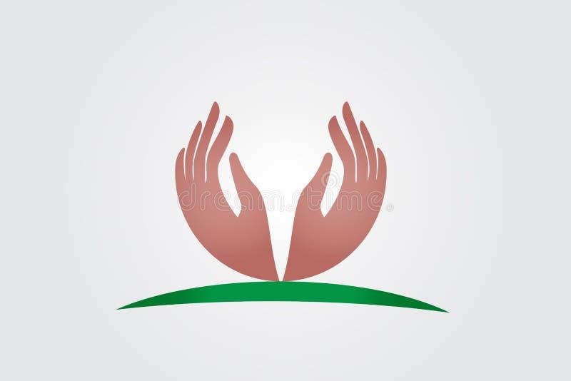 Vecteur de logo de mains d'espoir illustration libre de droits
