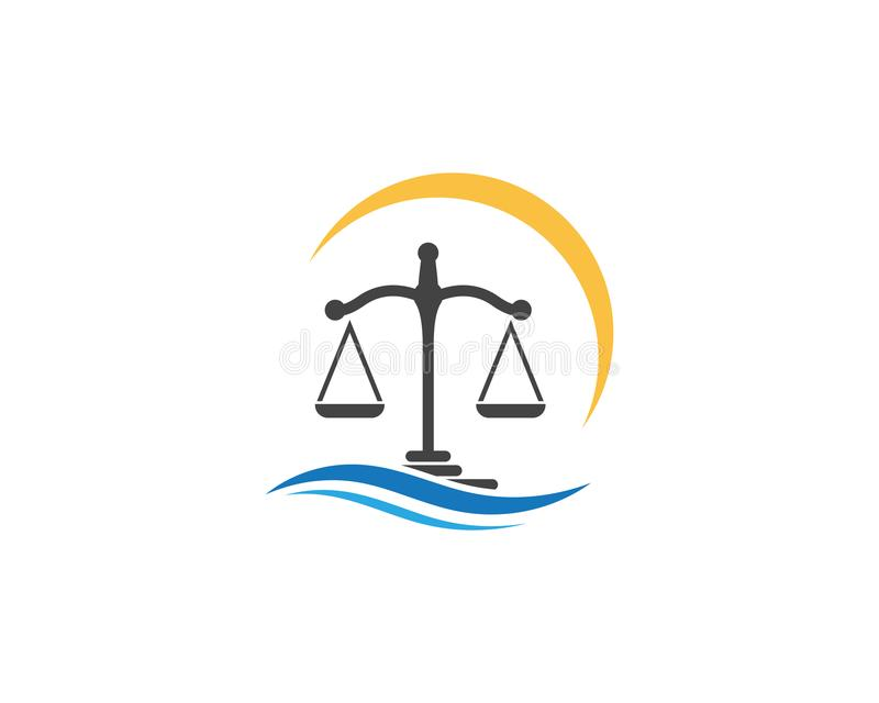 vecteur de Logo Template de loi de justice illustration libre de droits