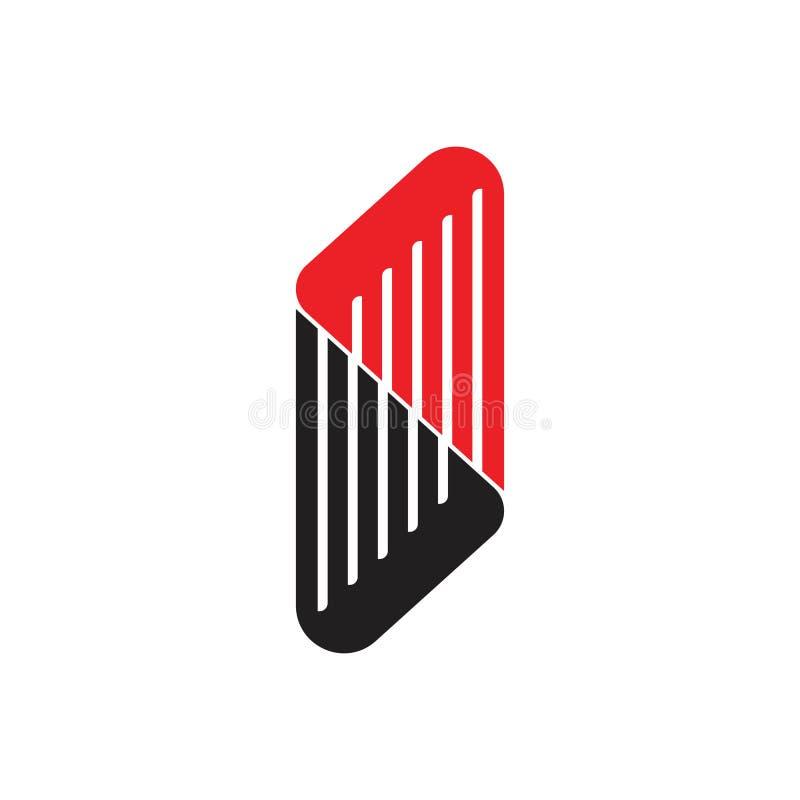 Vecteur de logo de trapèze de rayures illustration stock