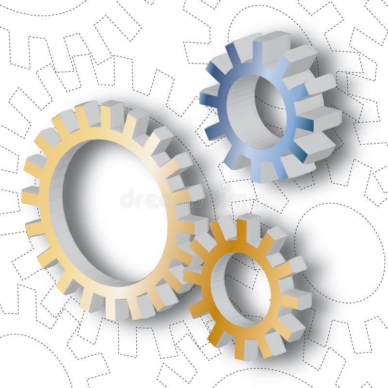 vecteur de mécanisme illustration libre de droits