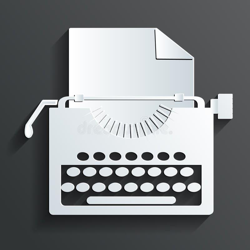 Vecteur de machine à écrire illustration libre de droits