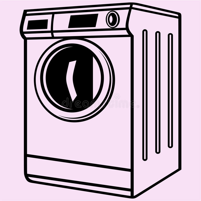 Vecteur de machine à laver illustration libre de droits