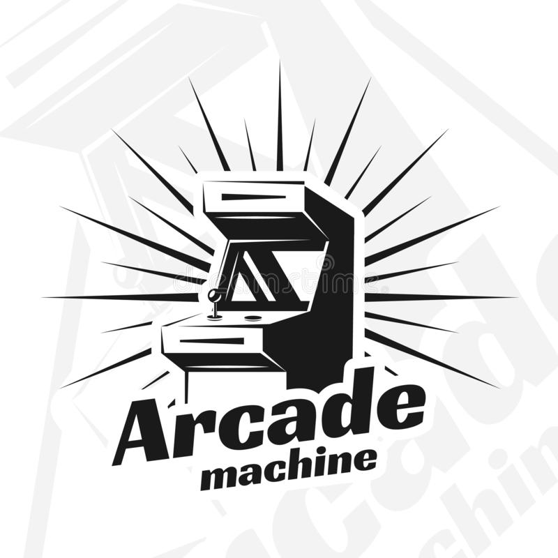 Vecteur de machine d'arcade illustration libre de droits