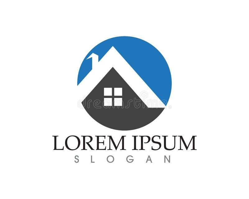 Vecteur de maison de propriété et à la maison de logos de calibre illustration de vecteur