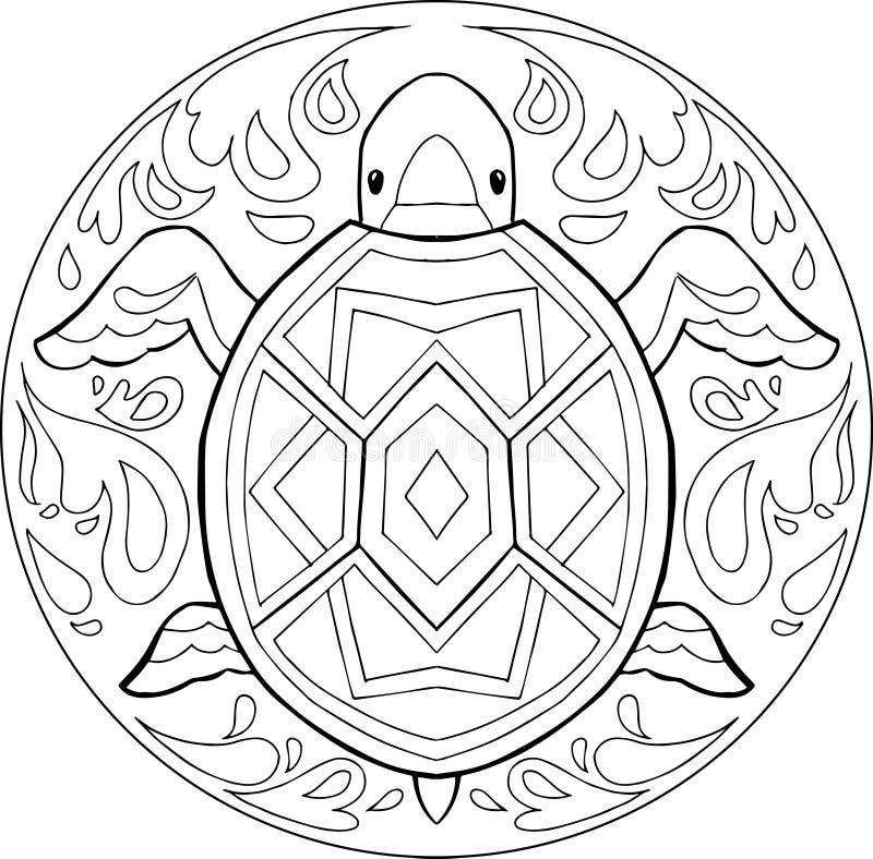 Coloriage Mandala De Tortue.Mandala Tortue