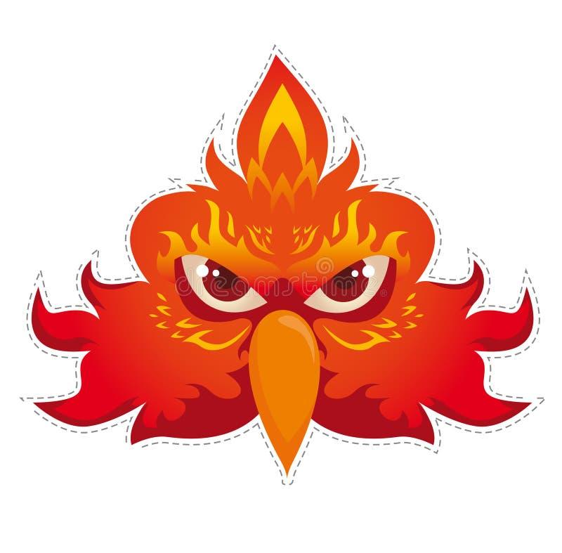 Vecteur de masque de Phoenix illustration de vecteur
