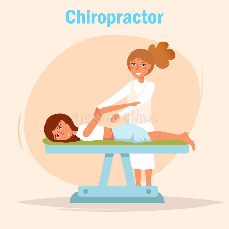 Vecteur de massage de chiroprakteur illustration libre de droits