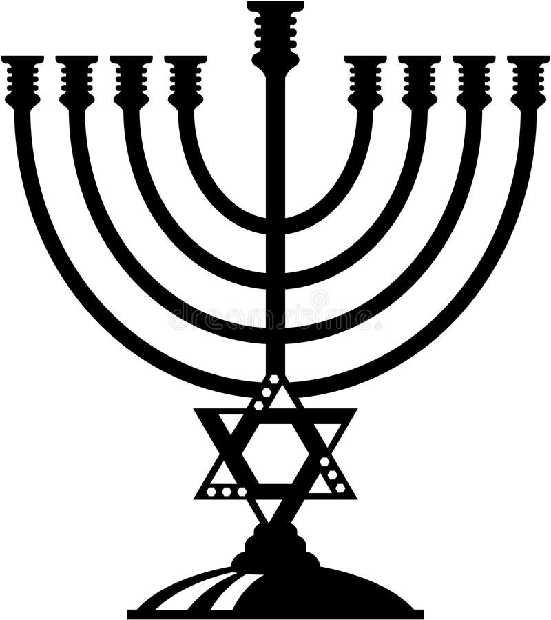 Vecteur de Menorah illustration libre de droits