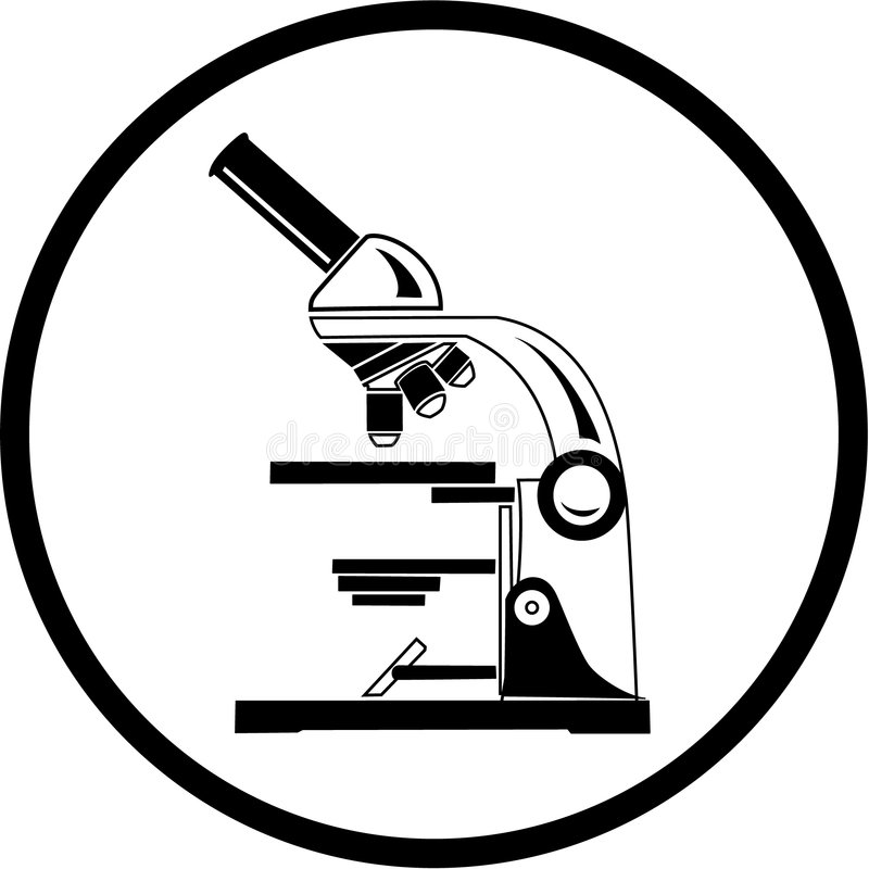 vecteur de microscope de graphisme illustration stock