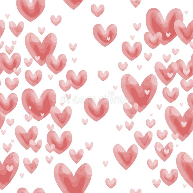 Vecteur de modèle de coeur de Valentine Peu mignon image libre de droits