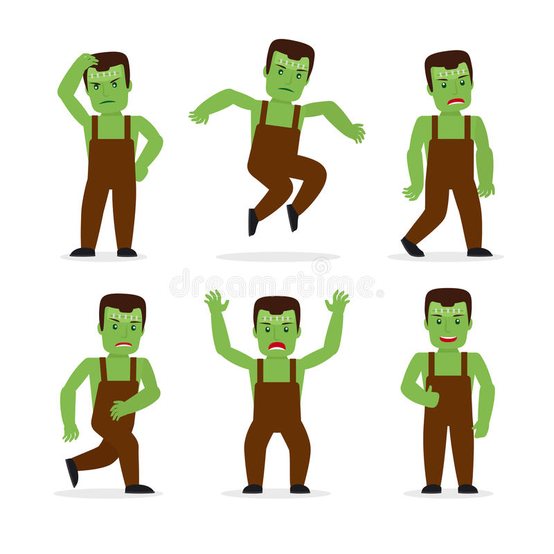 Vecteur de monstre de Frankenstein illustration de vecteur