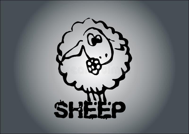 Vecteur de moutons illustration libre de droits