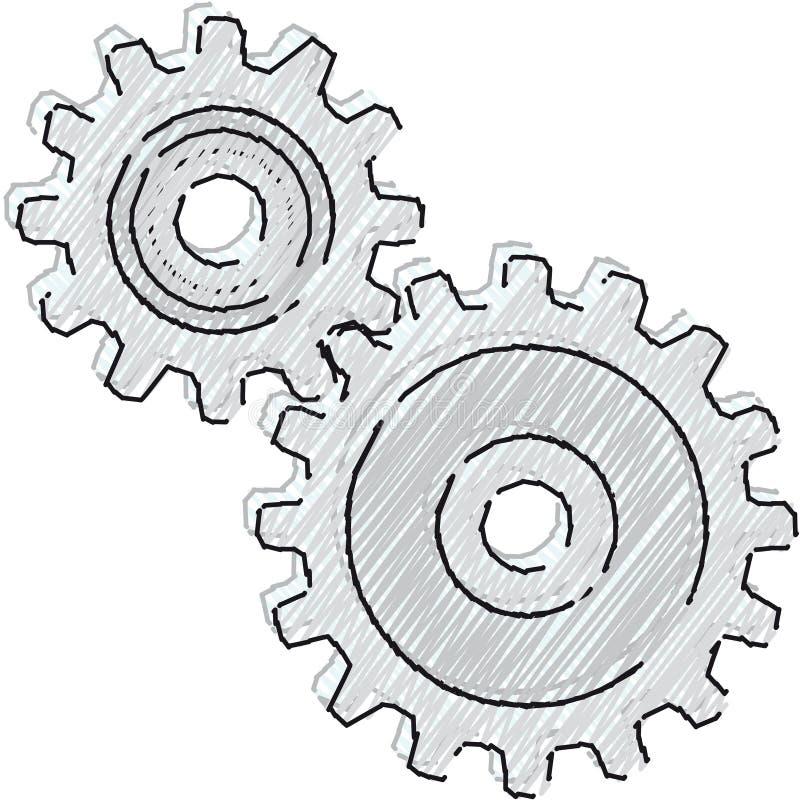 vecteur de mouvement de mécanisme illustration de vecteur