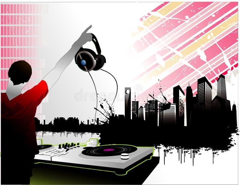 Vecteur de musique de ville illustration stock