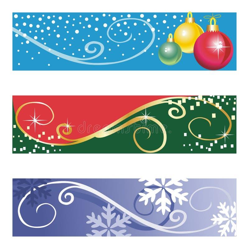 vecteur de Noël de drapeaux illustration de vecteur