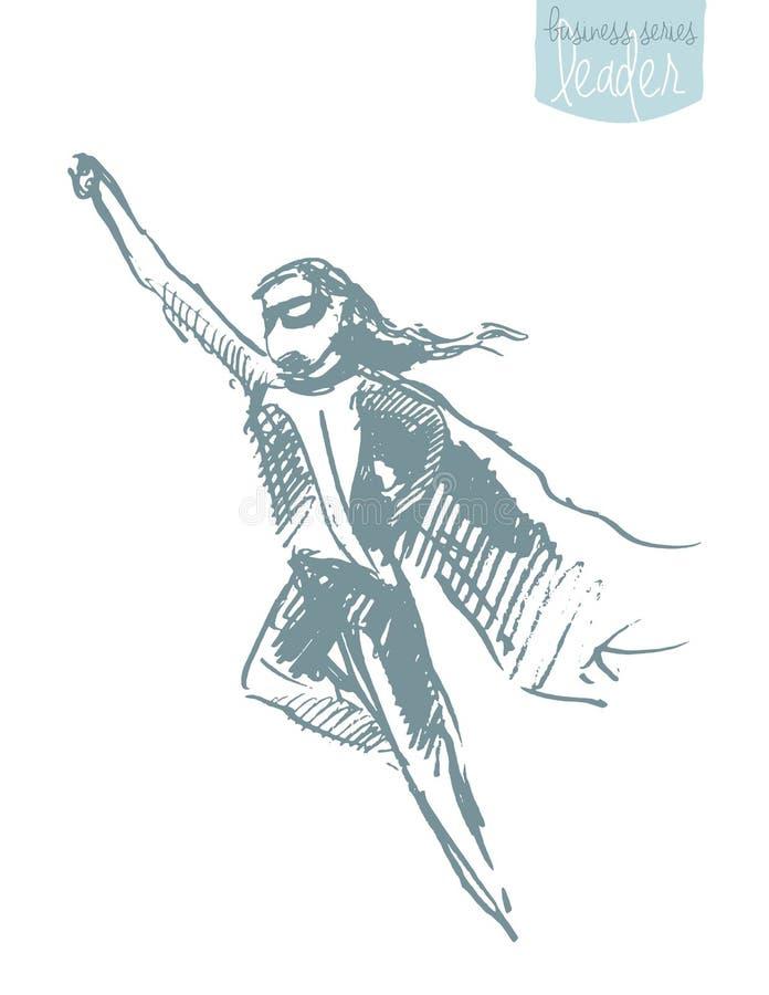 Vecteur de ondulation de concept de bonheur de liberté de manteau de fille illustration de vecteur