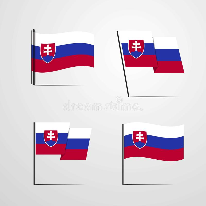Vecteur de ondulation de scénographie de drapeau de la Slovaquie illustration libre de droits
