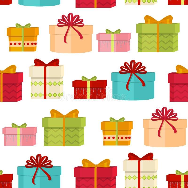 Vecteur de papier décoratif de fond de vacances d'hiver de Joyeux Noël et de bonne année de modèle sans couture de Noël illustration stock