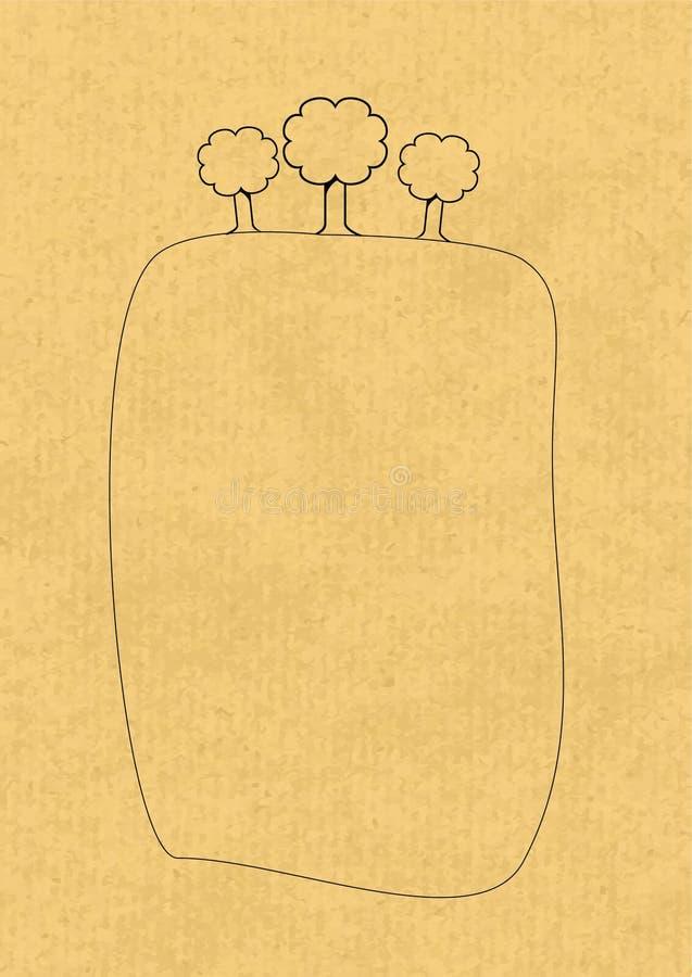 Vecteur de papier d'Eco illustration libre de droits
