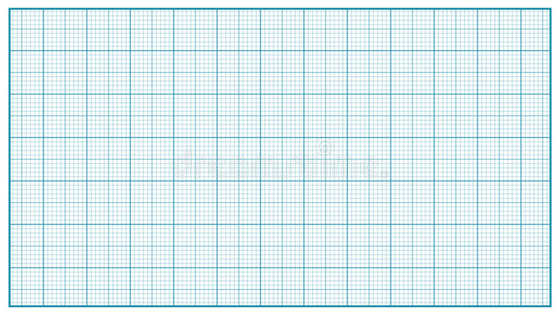 Vecteur de papier de millimètre bleu Papier de graphique pour l'éducation, projets de dessin Mesure classique de papier de grille illustration de vecteur