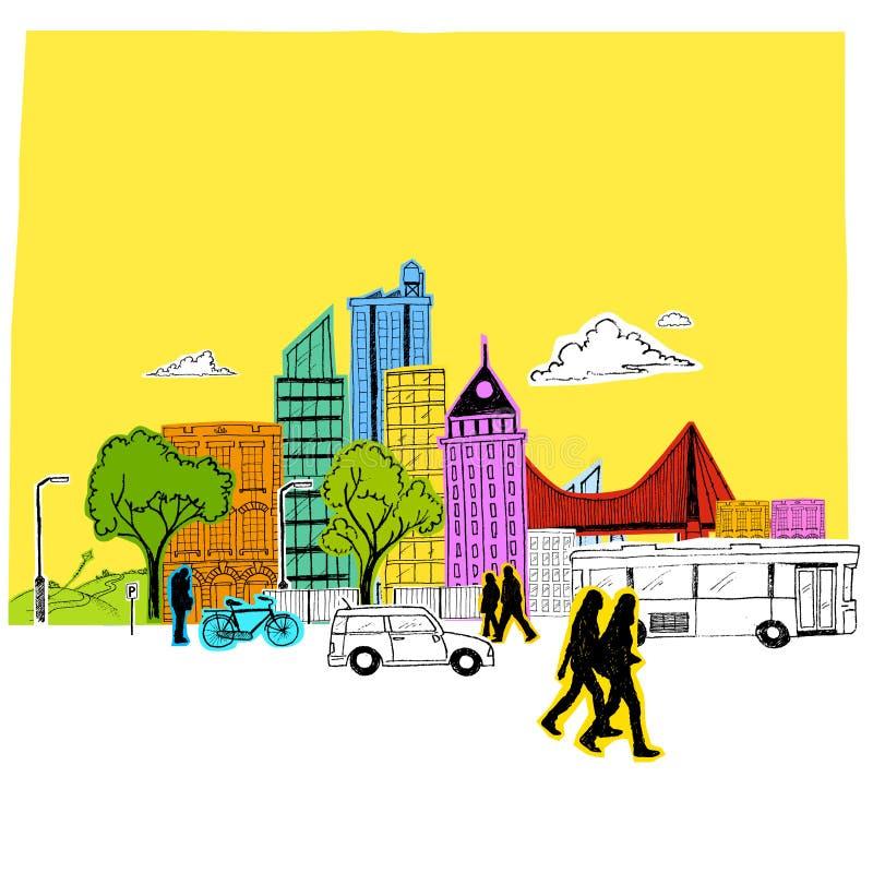 Vecteur de papier de ville illustration libre de droits