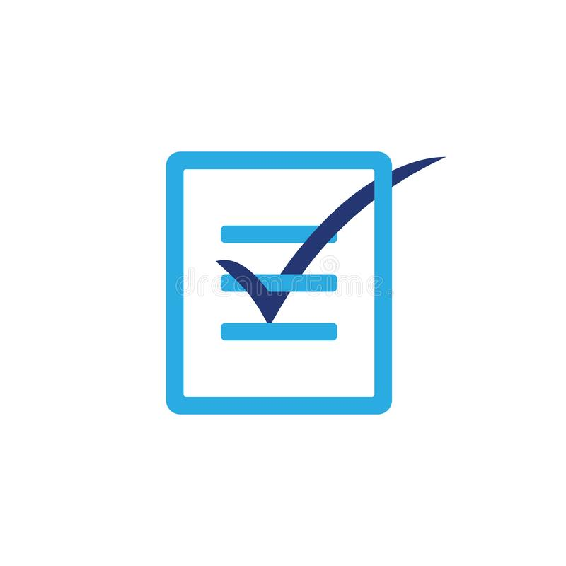 Vecteur de papier de logo de la conception 3d de liste de contrôle illustration stock