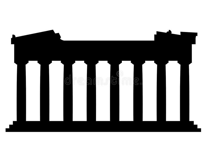 Vecteur de parthenon de monument sur le fond blanc illustration libre de droits