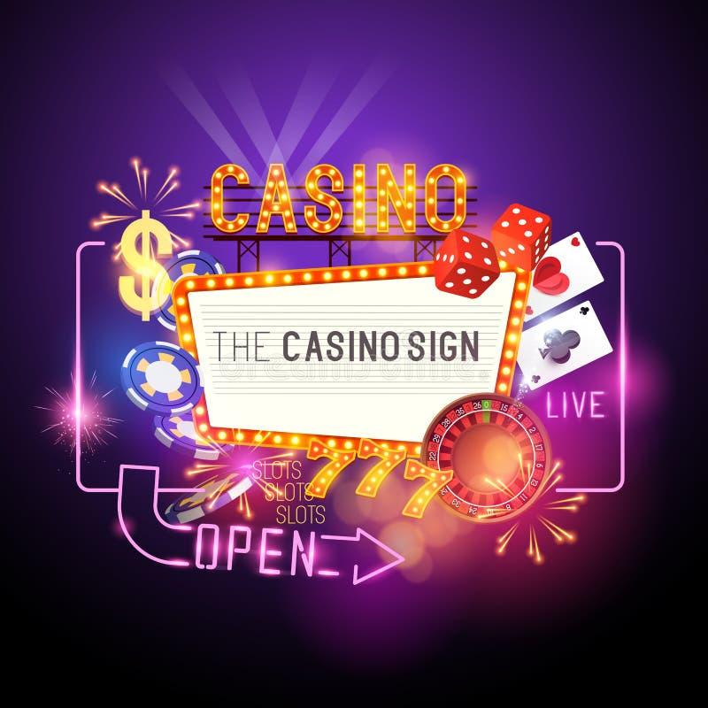 Vecteur de partie de casino illustration libre de droits