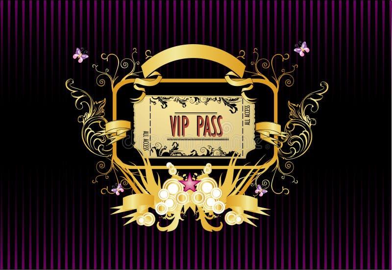 Vecteur de passage de VIP illustration stock