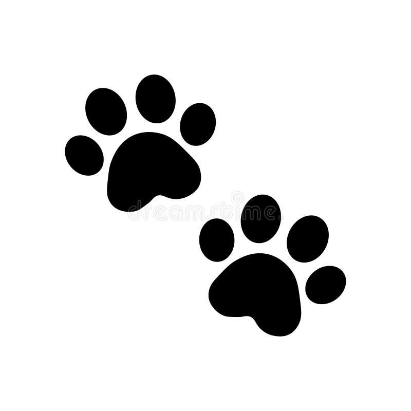 Vecteur de patte de chien sur le blanc illustration stock